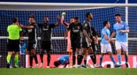 El Manchester City se quedó con las ganas de seguir vivo en la Champions League, mientras que Lyon va a paso de campeón.
