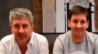 Lionel Messi y una instantánea junto a su padre Jorge.