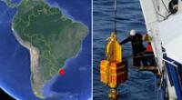 Primera fuga masiva de metano del fondo marino en el hemisferio sur.