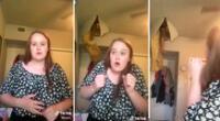 Imágenes del video viral de la joven entonando la dulce melodía mientras su madre rompe el techo tras caída.