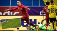 Cristiano Ronaldo es figura de la selección de Portugal.