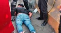 Leonardo Luis Rojas Camarena fue detenido cuando huía por la bajada del puente Alipio Ponce y llevado a la dependencia policial.