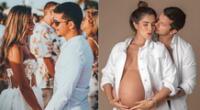 Korina Rivadeneira hizo un clip en TikTok junto a su esposo Mario Hart y su bebé recién nacida causando ternura en internautas.