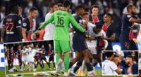 Clásico de Ligue 1 entre PSG y Marsella terminó en batalla campal.