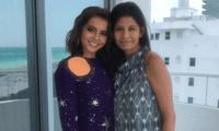 La actriz de ascendencia peruana Isabela Moner compartió con sus seguidores que su madre ya lleva un año libre de cáncer de mama.