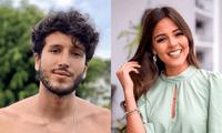 Luciana Fuster fue entrevistada por la cadena Telemundo y fue sorprendida en vivo al recibir un tierno saludo de Sebastián Yatra.