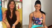 Rocío miranda y Giovanna Valcárcel saludan al popular por su aniversario