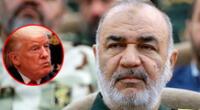 """Hussein Salamí a Donald Trump: """"le volaremos la pelusa"""", referencia al peinado del presidente de Estados Unidos."""