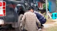 Hombre descubre que había una enorme serpiente atrapada dentro de su auto