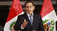 Martín Vizcarra habló sobre la situación política en el Perú.