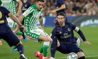 Sergio Ramos bien en la zaga y fue el jugador que marcó el gol de la victoria.