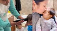Karen Schwarz tomó la difícil decisión de raparle el cabello a su hija Cayetana.
