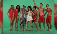 Jazmín Pinedo se emocionó en el set de En boca de todos al ver imágenes del programa en el que participó junto a Nataniel Sánchez y Erick Elera.