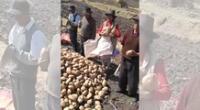 Campesinos piden apoyo del Gobierno para vender sus cultivos.