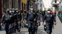 Son más de 123 mil policías que cumplen acciones de alto riesgo ante el estado de emergencia; por tal, se entregará un segundo bono para PNP y FF.AA de S/720.