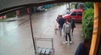Las cámaras de seguridad captaron el momento del ataque.