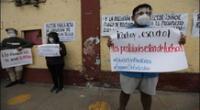 UNMSM. Estudiantes realizan protesta en contra del examen  de admisión virtual
