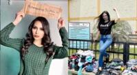Miss Eco Internacional Perú, Lesly Reyna, recicló ropa y las donó a penal de Lurigancho