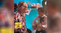 El tierno momento cuando un niño le canta a su abuela en el día de su cumpleaños