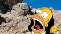 Una piedra similar al rostro de Homero Simpson causa furor en Bolivia
