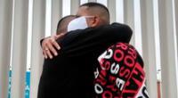 Rodrigo Vilca rompió en llanto tras despedirse de sus familiares.
