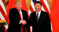 Donald Trump volvió a acusar a China por aparición de la COVID-19. En imágenes Trump y presidente chino Xi Jinping.
