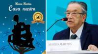 """Marco Martos presentará una edición especial de su primer poemario, """"Casa nuestra""""."""