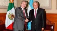 Presidente de Argentina Alberto Fernández  y su homólogo de México Andrés Manuel López Obrador.