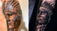 Gianluca Lapadula se realiza tatuaje en homenaje al Perú