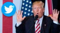 Twitter colocó un descargo de responsabilidad sobre el tweet de Donald Trump.