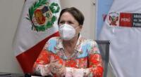 Rosario Sasieta, ministra de la Mujer y Poblaciones Vulnerables.