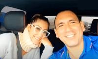 Karla Tarazona y novio Rafael Fernández.