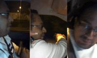 Sujeto dispara con su arma mientras conduce.