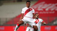 Renato Tapia anota el segundo tanto contra Brasil