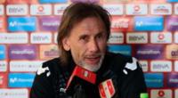Ricardo Gareca resaltó el buen juego de Perú.