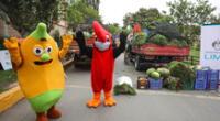 Comerciantes de este importante centro de abastos entregaron varios kilos de frutas, hortalizas y verduras.