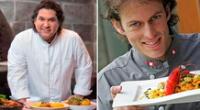 Los reconocidos chefs peruanos: Gastón Acurio y James Berckemeyer.