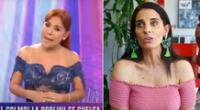 Magaly Medina no permitió que cuestionen el labor periodístico de su equipo de producción y defendió los ampays criticados por Laura Borlini.