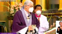 El arzobispo  de Lima y primado del Perú, monseñor Carlos Castillo viene realizando la misa virtual del Señor de los Milagros.