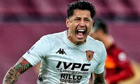 Giancaluca Lapadula estrenó su tatuaje peruano con gol.