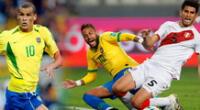 Neymar marcó un triplete ante Perú.