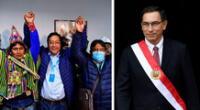 Martín Vizcarra felicitó por medio de sus redes sociales al virtual ganador de las elecciones presidenciales de Bolivia, Luis Arce Catacora