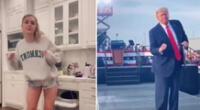 El reto de baile de Donald Trump está causando sensación en TikTok.