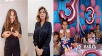 María la del barrio y Soraya se unen en parodia de video viral de niña del cumpleaños.