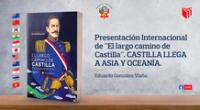 La presentación del libro  se realizará el domingo 25 de octubre a partir de las 9.00 p. m. y contará con la participación de embajadores de Asia y Oceanía.