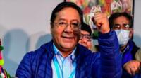 Presidente de Bolivia Luis Arce del MAS, partido de Evo Morales.