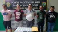 Sujetos fueron conducidos al Departamento de Investigación Criminal del Callao donde continúan las investigaciones para dar con la identidad y captura del resto de la banda.