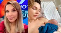 Juliana Oxenford compartió tierno momento con su bebé