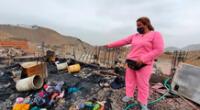 Con instalaciones eléctricas precarias y sin agua, las familias en el asentamiento humano Laderas de Chillón perdieron la totalidad de sus pertenencias y ahora piden ayuda.