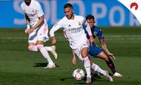 Hazard espera anotar su primer gol en la Champions con la camiseta del Real Madrid.